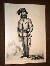 Garibaldi a Roma con la Camicia Rossa + Veduta di Montevideo
