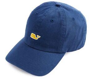 Vineyard Vines Whale Logo Baseball Hat Navy Moonshine Blue New