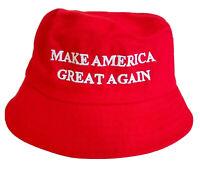MAGA President Donald Trump Make America Great Again Hat Red Bucket Hat