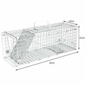 Squirrel / Rat Trap Metal Humane Live Vermin Large Pest Animal Bait Cage Catcher