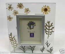 "Rex secret garden flowers glass frame 2.5 x 3"" picture size Frame size 5.2 x6.2"""