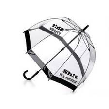 Sh!t la sua pioggia donna nero OMBRELLO a cupola