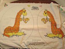 Precious Moments Girafee Pillow -Applique Fabric Panel Lightweight Vintage