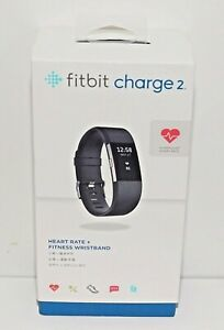 FITBIT CHARGE 2 ACTIVITY FITNESS TRACKER + HEART RATE - BLACK BAND / OPEN BOX