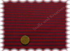 Campan Cotone Jersey Strisce Hilco rosso, petrolio 50 cm