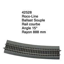 Rail courbe R 888 mm Ballast Souple-HO 1/87-ROCO 42528