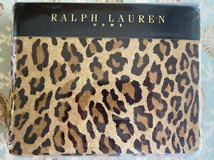 New Ralph Lauren Home ARAGON Queen Size Fitted Sheet Leopard Print, France