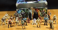STAR WARS  Action Lot Of 22 Figures by Kenner 90's With Storage Box Luke Skywalk