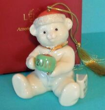 Lenox Holiday Annual 2011 A Cozy Cup Of Cocoa Teddy Bear Christmas Ornament New