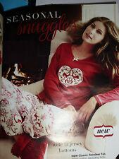 Totalmente nuevo para mujer Classic Reno Algodón Pijama/Pijamas Talla 12/14 De Avon