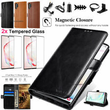 For Samsung Galaxy Note 10+ Leather Flip Wallet Case Cover Stand Pouch Card Slot