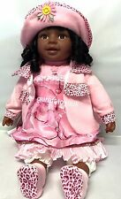 Black Doll REAL LOOKING ADORABLE SITTING TOY 24 INCH SIZE Best Gift Idea!