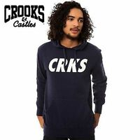 Crooks and Castles CRKS Skate Pullover Hoodie Navy L NWT NEW RT$75  Streetwear