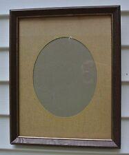 "Vintage Wood Frame with Oval Matt 15-1/2"""