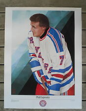 """1988 Hockey Legends Rangers' Phil Esposito Print """"In The Slot"""" by Heather Cooper"""
