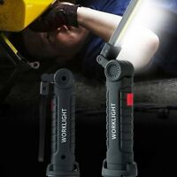 Rechargeable COB+LED Hand Torch Lamp Magnetic Inspection Work Light Flexible  Yi