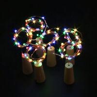 15er LEDs Lichterkette Draht Micro mehrfarbig, Batteriebetrieb,Weinflasche Licht