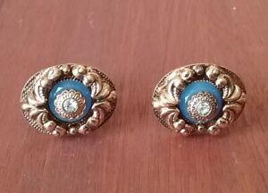 Vintage means cufflinks. 80years. Soviet Union. Czech.