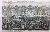 Louis 16 et Marie Antoinette au Temple 1792 Rare Gravure Révolution Française