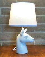 Target Llama White Table Lamp w/Shade Nursery Figural Kids Ceramic C81