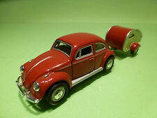 VOLKSWAGEN BEETLE + CARAVAN - SCHUCO  1:43? - RARE SELTEN - GOOD CONDITION