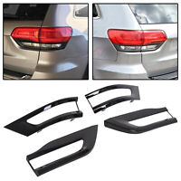 For 14-20 Jeep Grand Cherokee Gloss Black Tail Light Trim Bezel Taillight Cover