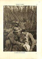 WWI Bataille de la Marne Poilus Soldats Blessés Infirmier Soins A ILLUSTRATION