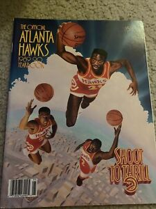 1989 1990 ATLANTA  HAWKS  NBA YEARBOOK