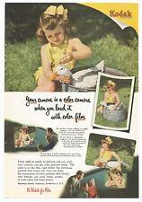 VTG. 1951 ORIGINAL KODAK KODACOLOR KODACHROME FILM AD SHE SHED MAN CAVE DECOR