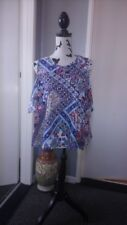Women's BNWOT Tu Cut-out Shoulder Paisley Patterned Cropped Top 14