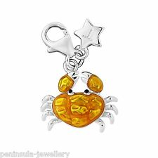 Tingle Crab clip on Sterling Silver Charm with Gift Box and Bag SCH288