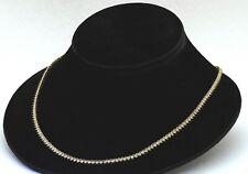 Heavy 14K yellow gold high fashion VS 5.28CT diamond Riviera line necklace