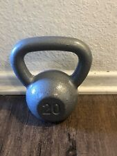 Weider Kettlebell 20 lb Pound Cast Iron Hammered Weight Single Free Weight NEW