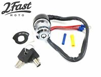 2FastMoto Round Key Ignition Switch 3 Position Harley Style FX FXR FXS XL