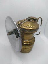 VINTAGE BRASS AUTO-LITE UNIVERSAL LAMP CO CARBIDE HEADLAMP COAL MINER LAMP LIGHT
