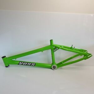 """2004 Yess Silver Bullet Pro 20"""" BMX Racing Frame Green Canada HTF"""