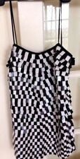 Gorgeous Bettina Liano Dress Black & White Square Sequin Silk Size 10
