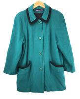 Herman Kay Women's Size 12 Vintage Wool Coat Green Lined Jacket