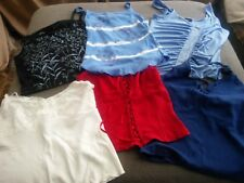 LOT OF 6 LADIES SUMMER TANK TOPS-PREOWNED
