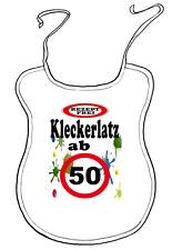 """Scherz-Latz für Erwachsene zum Geburtstag """"ab 50 Jahre"""" Kleckerlatz"""