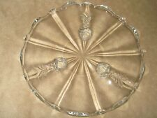 Vintage Footed Platter Clear Glass 8 Inches Diameter