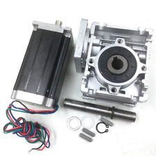 4.2A Nema23 Stepper Motor L112mm 4Wire +15:1 Worm Gearbox 45Nm CNC Speed Reducer
