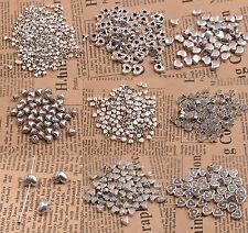 20/50/100Pcs Tibetan Silver Heart Shape Loose Spacer Bead Jewelry Making DIY