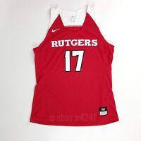 New Nike Women's Medium Rutgers University Hyperelite Basketball Jersey Scarlet