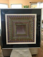 Victor Vasarely Signed Numbered Serigraph Abstract  Art City Series London