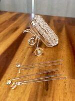 "Mini 5"" Glass Golfing Golf Bag 5 Clubs Decorative Figurine, Cool!"
