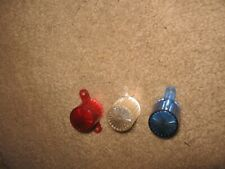 3 NEW Williams Bally GOTTLIEB Stern Plastic RED&WHITE&BLUE FLASHING BULB COVERS