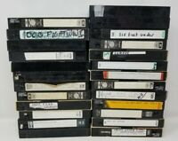 Lot Of 26 Pre-Recorded VHS NHRA Race Tapes Sold As Used Blanks Vintage