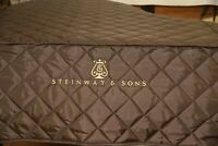 Steinway M Brown Lightweight Quilted Cover Steinway Logo on Front