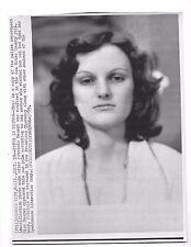 1975 PRESS PHOTO Patty Hearst Identification Photo San Mateo County Jail 6312